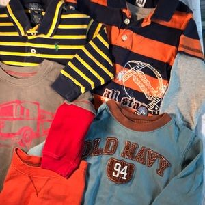 Lot of 5 boys Shirts size 18-24 months